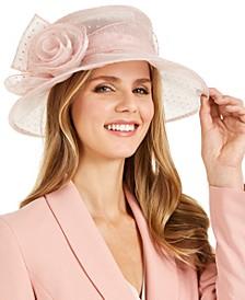 Dotted Microbrim Organza Dressy Hat