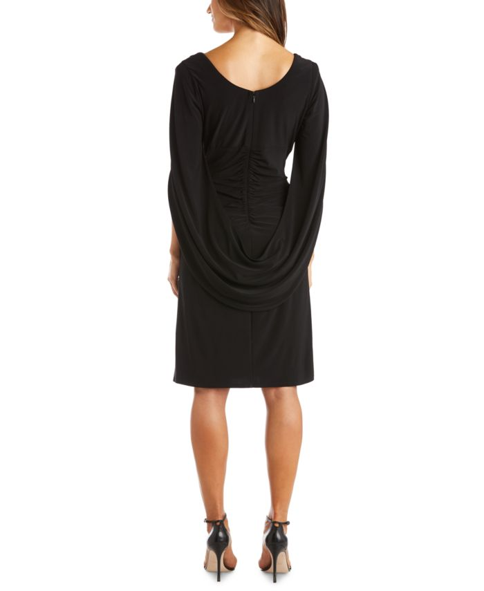 R & M Richards Embellished Draped-Back Sheath Dress & Reviews - Dresses - Women - Macy's
