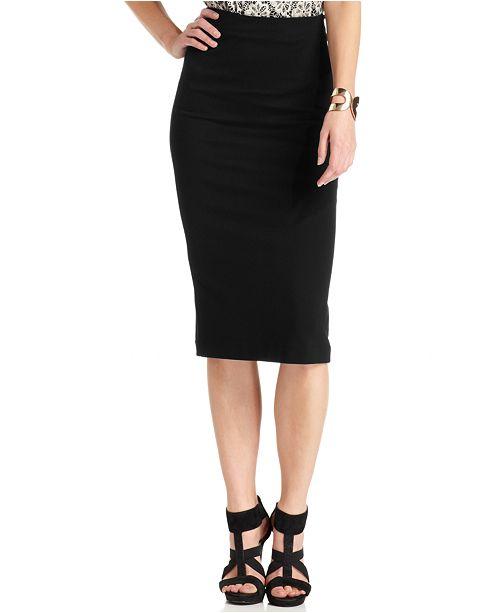 3821664856f Vince Camuto Ponte-Knit Midi Skirt   Reviews - Skirts - Women - Macy s