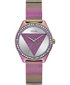 Women's Purple Ombré Stainless Steel Mesh Bracelet Watch 36mm