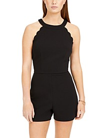 Juniors' Scalloped Romper