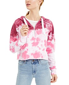 Tie-Dye Cropped Hooded Sweatshirt