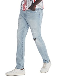 Men's Slim-Fit Tapered Lenny Destroyed Rinse Jeans