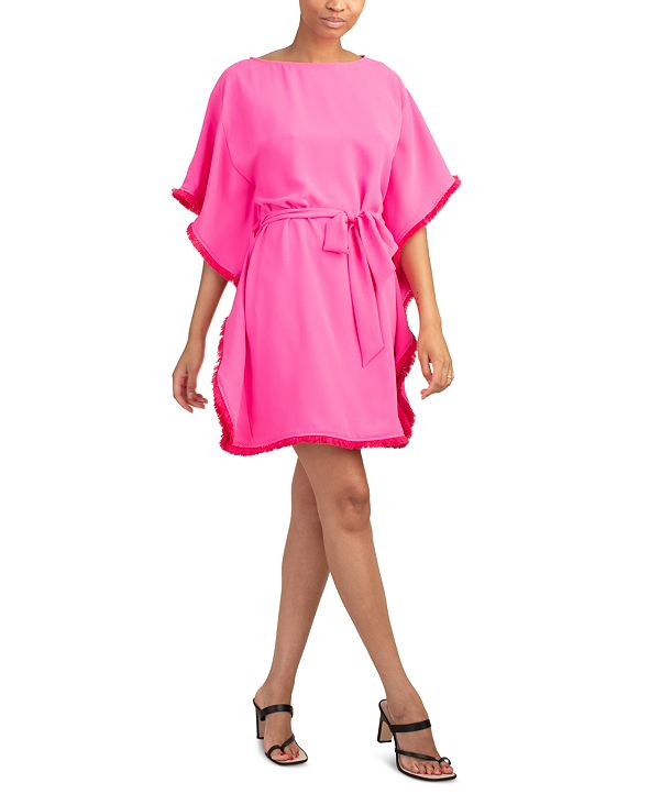 Trina Turk Ray Tie-Waist Caftan Dress