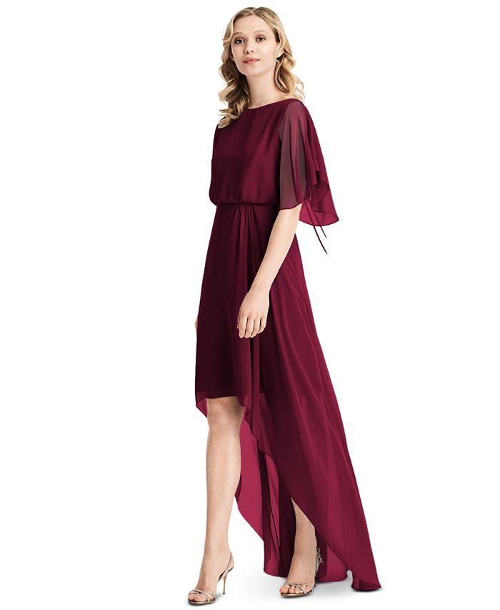Jenny Packham - Flutter-Sleeve High-Low A-Line Dress