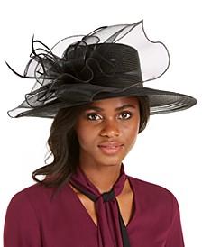 Wide-Brim Braided Dressy Hat