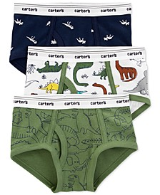 Boys 3-Pk. Cotton Dinosaur Briefs