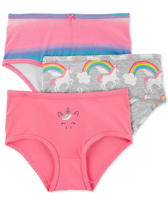 Carter's - Little Girls 3-Pack Rainbow Unicorn Underwear