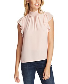 Flutter-Sleeve Solid Top