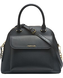 Chained Dome Leather Satchel