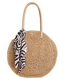 INC Quinnn Circle Straw Tote, Created for Macy's