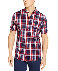 Men's Plaid Short Sleeve Shirt, Created for Macy's
