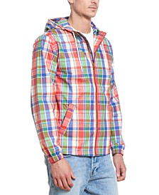 Men's Plaid Hooded Jacket