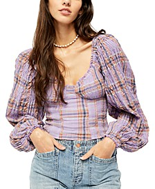 Cherry Bomb Madrass Plaid Top
