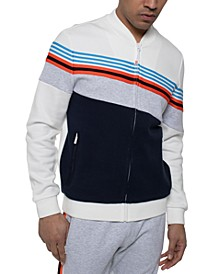 Men's Angled Colorblock Striped Tracksuit Separates