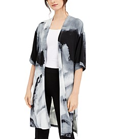 Printed Open-Front Cardigan, Created for Macy's