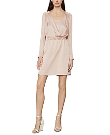 Satin Surplice Dress