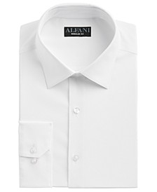 Men's Regular Fit Cooling Performance Stretch Solid Dress Shirt, Created for Macy's