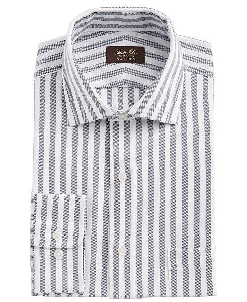 Tasso Elba Men's Classic/Regular-Fit Non-Iron Performance Stretch Candy Stripe Supima Cotton Dress Shirt, Created for Macy's