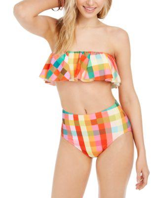 Ruffled Bandeau Bikini Top