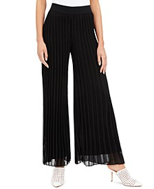 Pleated Wide-Leg Pants, Created for Macy's