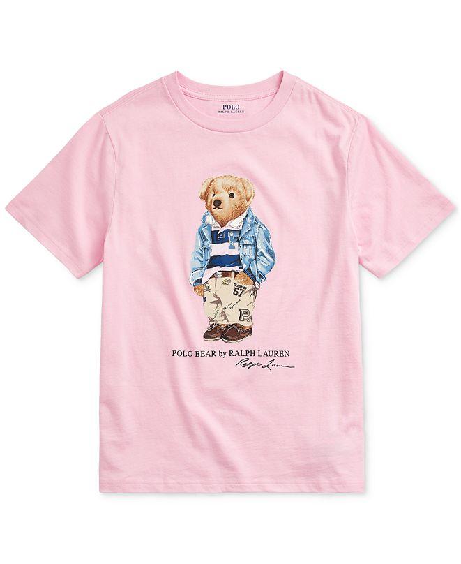 Polo Ralph Lauren Big Boys Preppy Bear Cotton Jersey T-Shirt