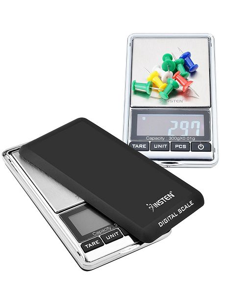 Insten Digital Stainless Steel Scale 0.01-300g with LCD Display
