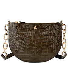 Croc-Embossed Leather Medium Sutton Crossbody