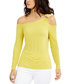 Ruched Cold-Shoulder Top, Created For Macy's