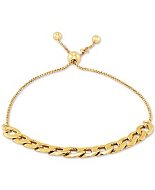 Chain Link Bolo Bracelet in 18k Gold-Plated Sterling Silver, Created for Macy's