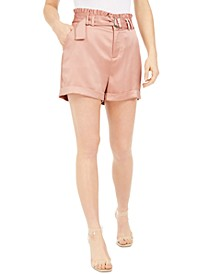 Belted Satin Shorts, Created For Macy's