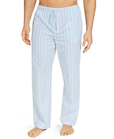Men's Striped Cotton Pajama Pants, Created for Macy's