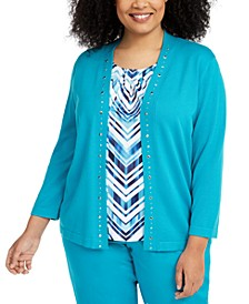 Plus Size Easy Street Layered-Look Sweater