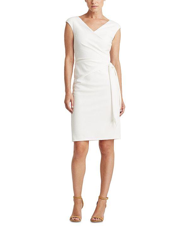 Lauren Ralph Lauren Jersey Cap-Sleeve Dress