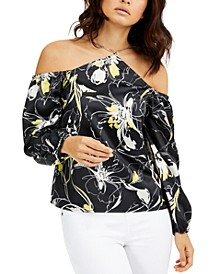 Cold-Shoulder Printed Top, Created For Macy's