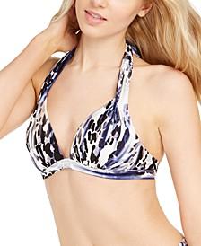 Punk Leopard-Print Halter Bikini Top