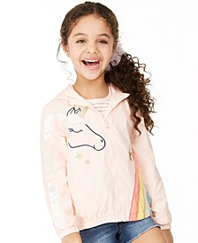 Toddler Girls Unicorn Ruffle Windbreaker, Created for Macy's