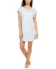 Cotton Floral-Print Sleep Shirt, Created for Macy's