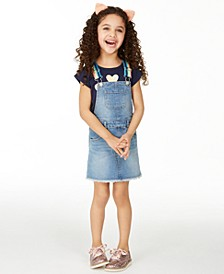 Little Girls Heart T-Shirt & Rainbow Skirtall Separates, Created for Macy's
