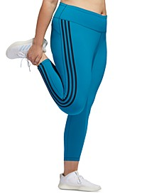 Plus Size Believe This 3-Stripe High-Rise Leggings