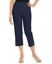 Grommet-Trimmed Capri Pants, Created for Macy's