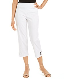 Grommet-Trimmed Capri Pants, Created for Macy's