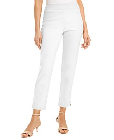 Petite Zip-Hem Tummy-Control Skinny-Leg Cropped Pants, Created for Macy's