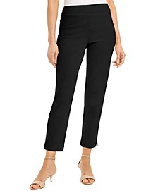Petite Zip-Hem Tummy-Control Skinny-Leg Ankle Pants, Created for Macy's