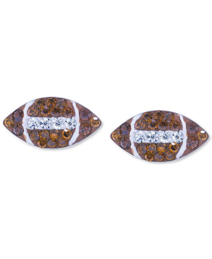 Giani Bernini - Crystal Football Stud Earrings in Sterling Silver