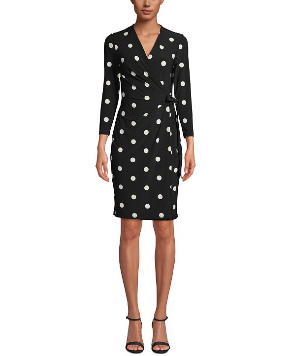 Anne Klein Nomad Printed Faux-Wrap Dress