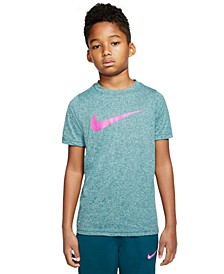 Big Boys Swoosh-Print T-Shirt
