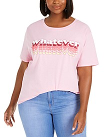 Trendy Plus Size Cotton Whatever Graphic T-Shirt