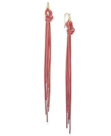 Two-Tone Multi-Chain Knotted Linear Drop Earrings, Created for Macy's