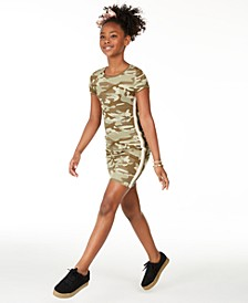 Big Girls Camo Side-Tape Dress, Created For Macy's